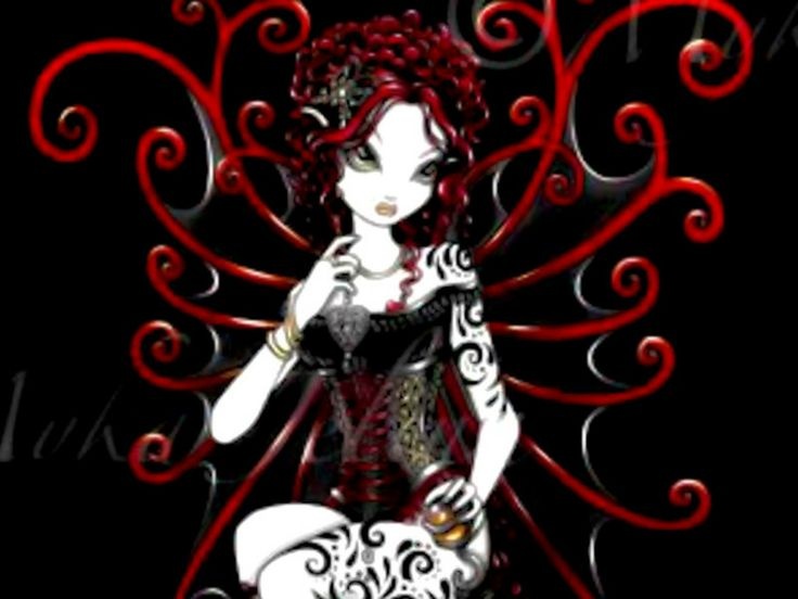 goth fairies red gothic fairy Wallpaper   Download The 736x552