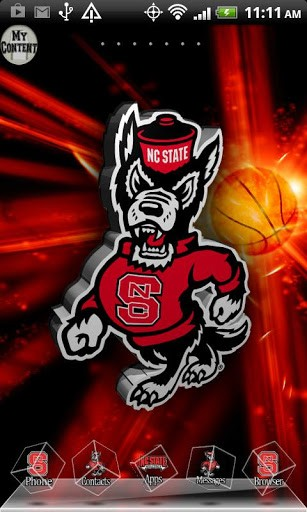View bigger   NC STATE WOLFPACK 3D THEME for Android screenshot 307x512