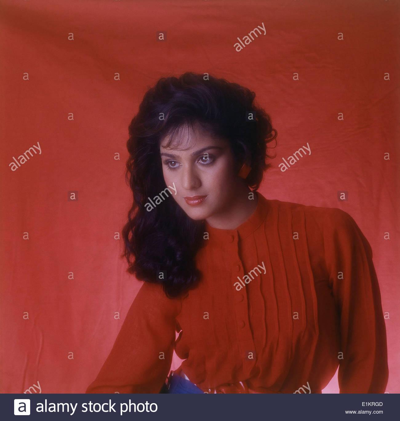 Portrait Meenakshi Sheshadri Indian Film High Resolution Stock 1300x1368
