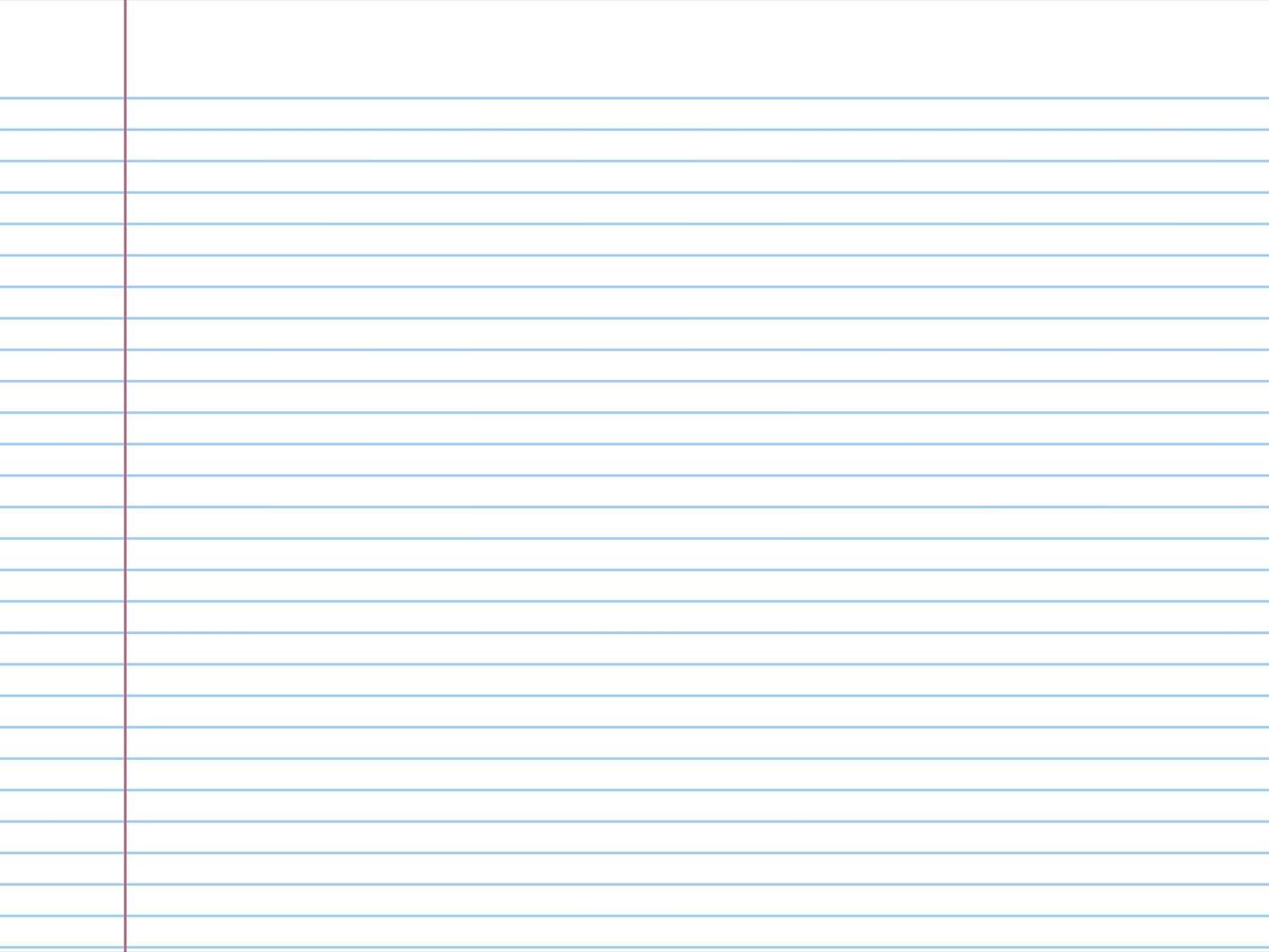 Notebook Paper Template For Word Radiotodorock
