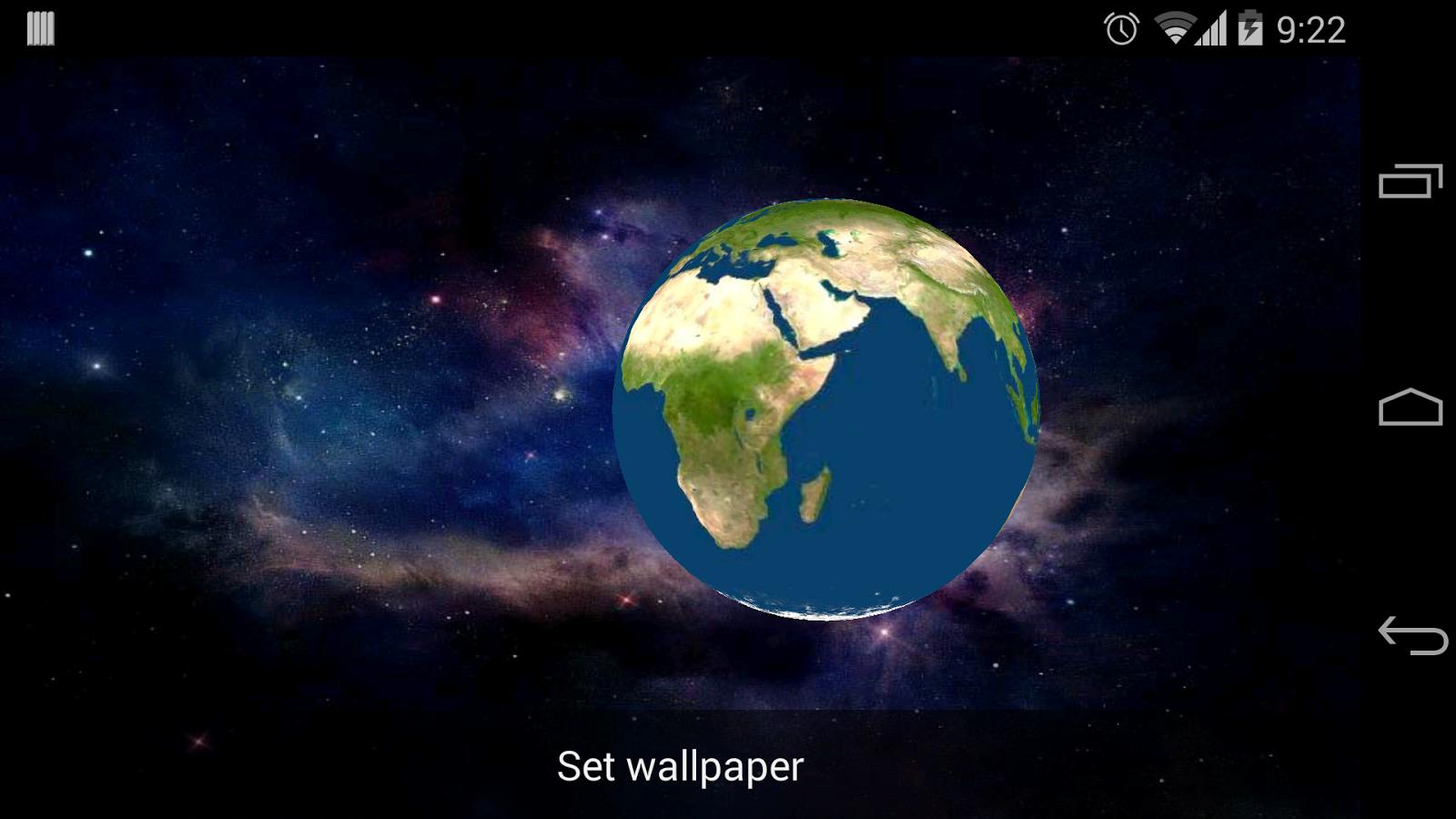 Earth 3d live wallpaper apk | 3D Earth Live Wallpaper para