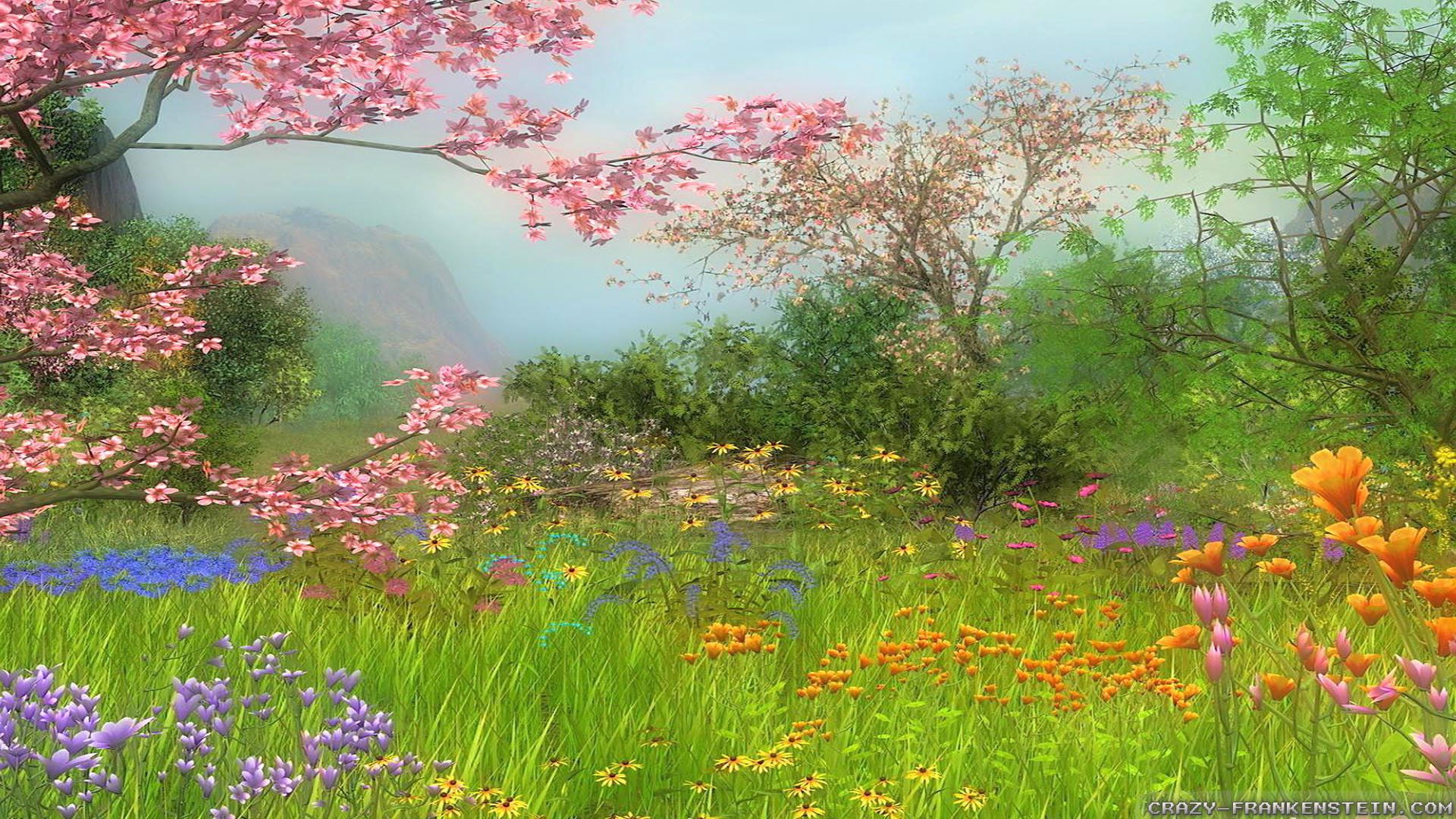 Spring Scene Wallpaper 1920x1080