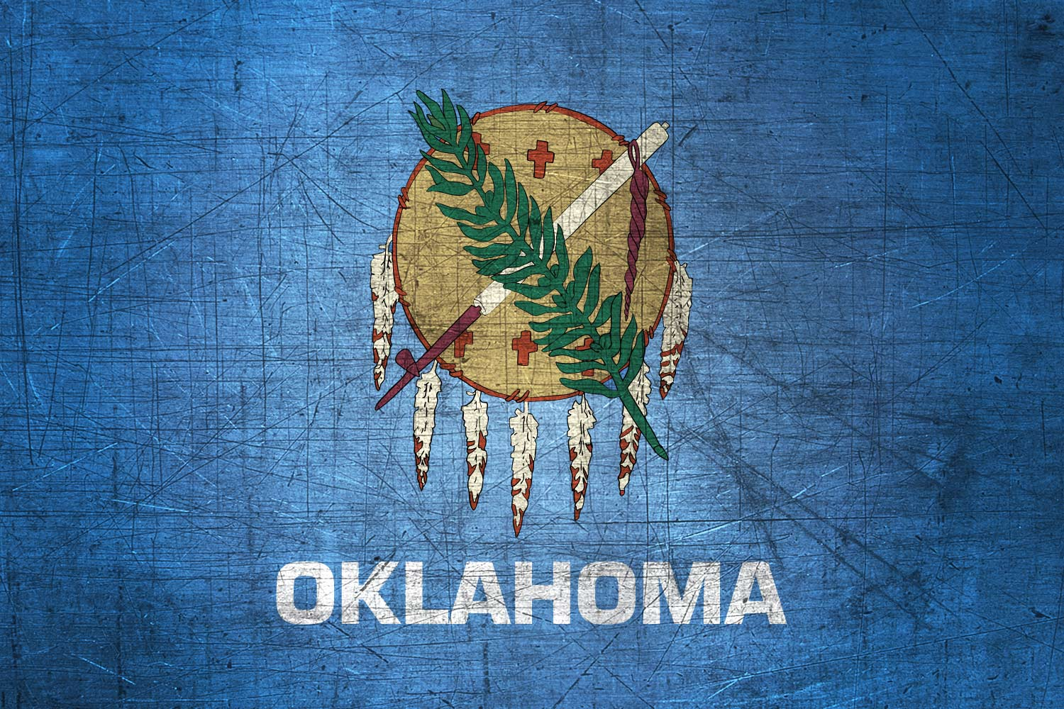 Oklahoman Flag Metal Flag of Oklahoma   Download it for 1500x1000