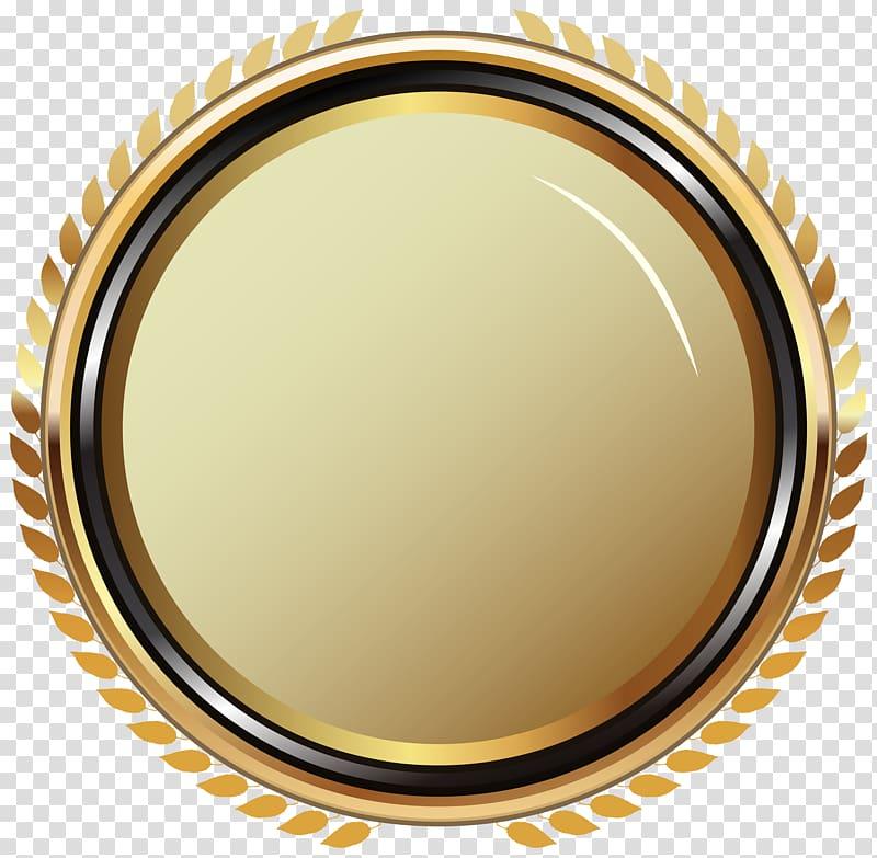 Badge Gold Oval Badge round yellow log o transparent 800x783