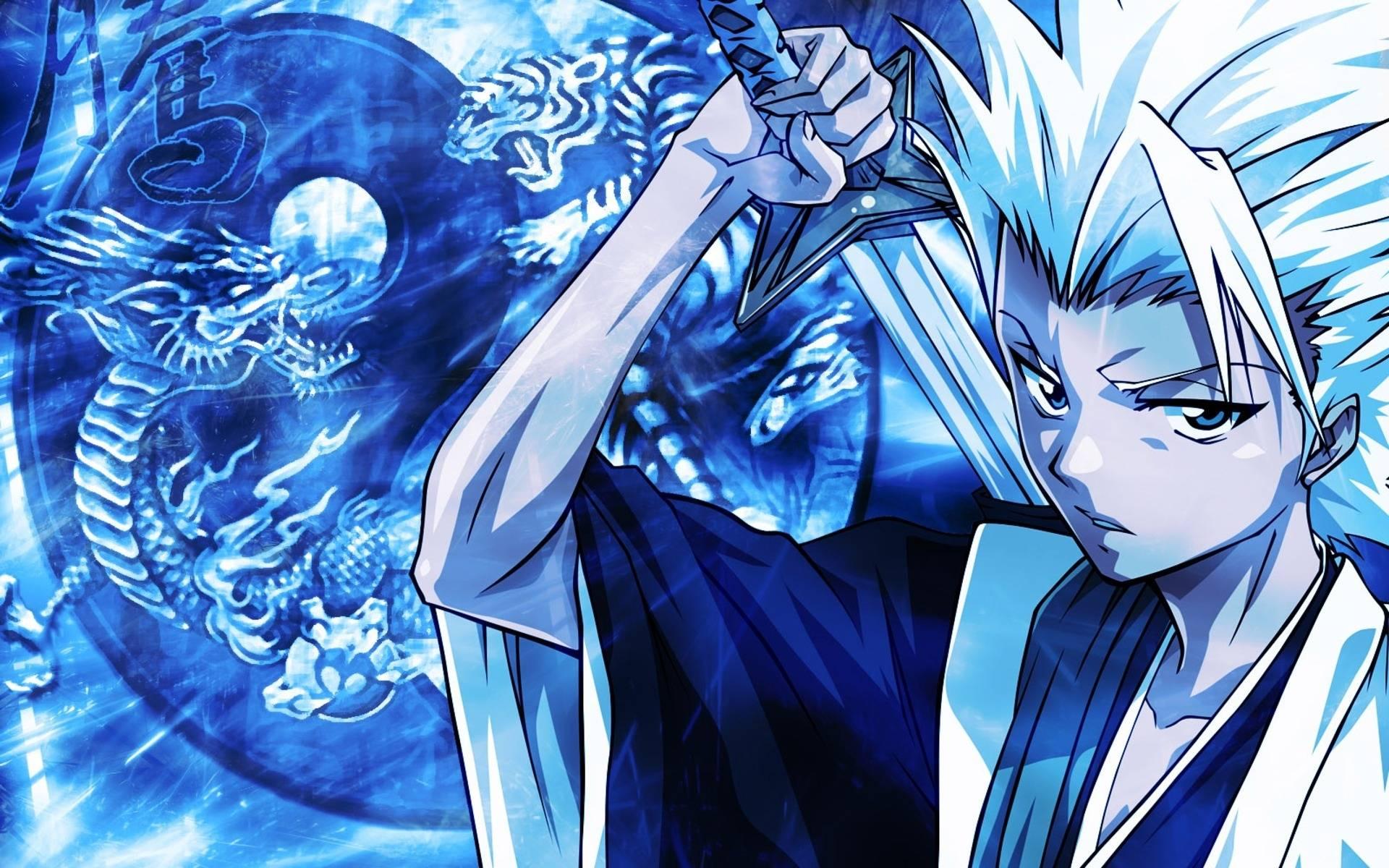 Blue Anime Guy Wallpaper 1920x1200