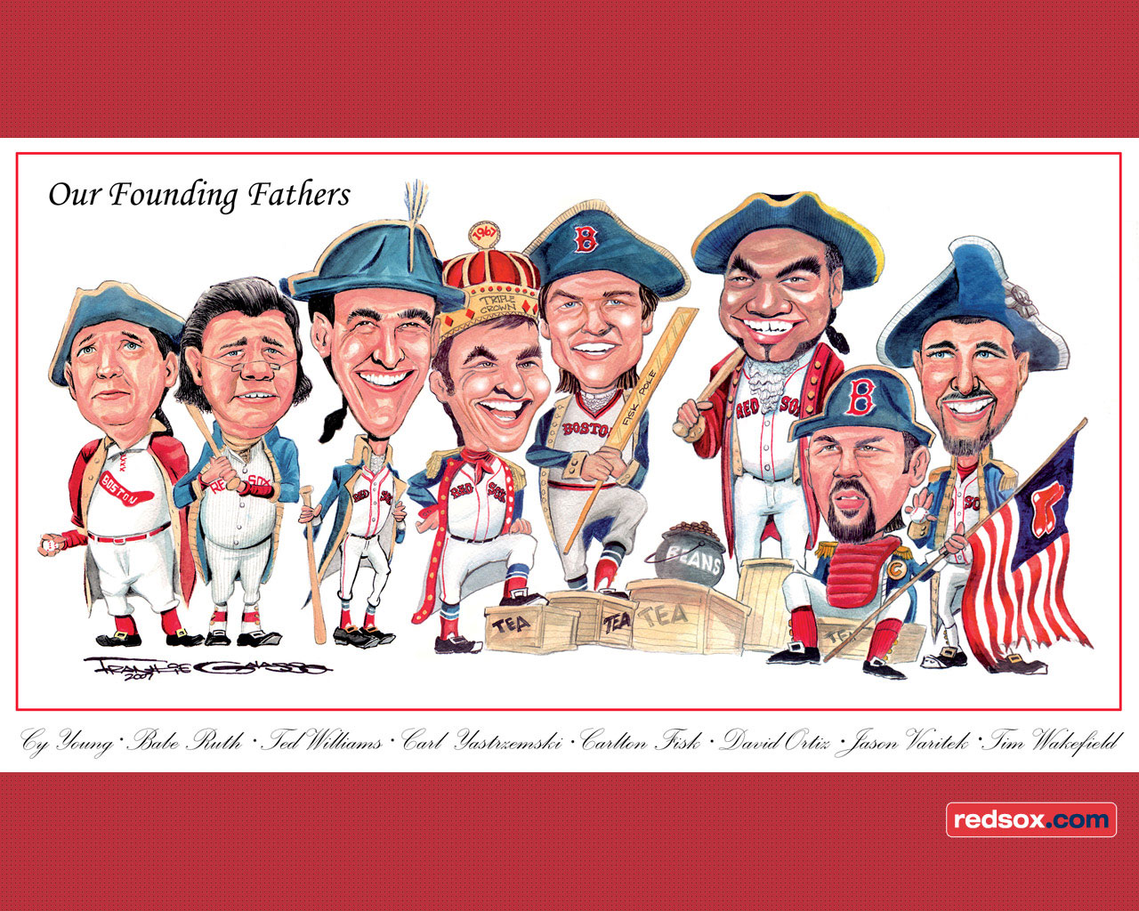 Red Sox Founding Fathers Wallpaper Desivalleycom 1280x1024