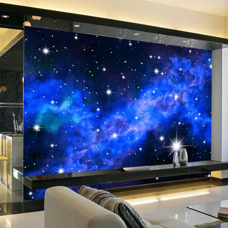 Galaxy Bedroom Walls Galaxy Wall Wallpaper 750x750