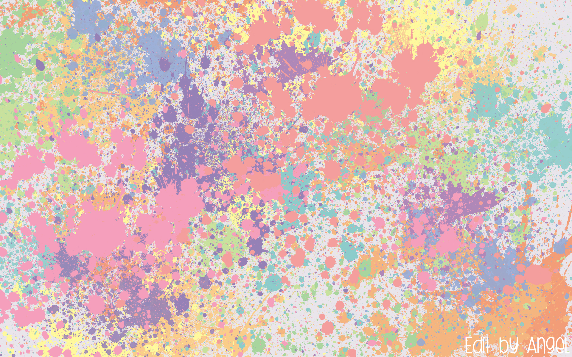 Pastel Splat Wallpaper by foolish angel 1920x1200