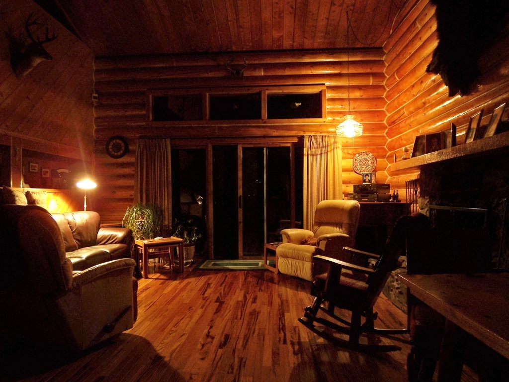 3d log cabin wallpaper wallpapersafari for Small cabin interiors photos