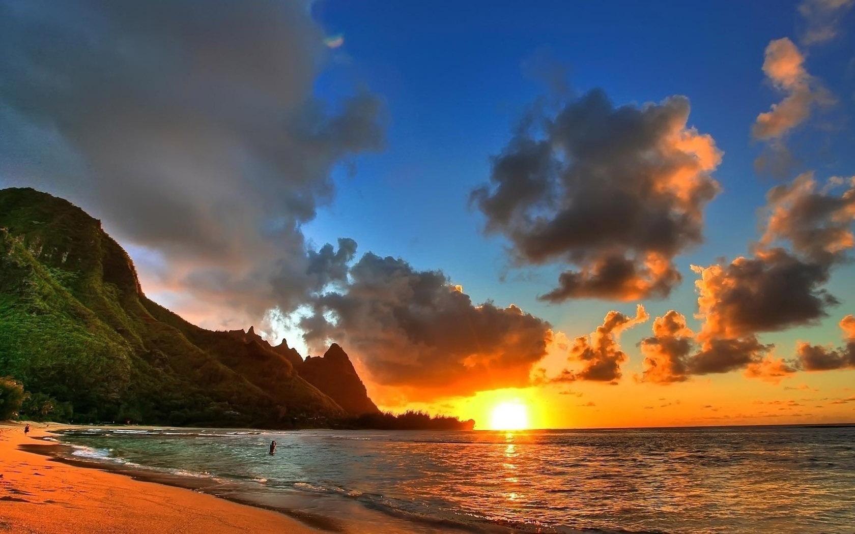 Beach Sunset HD Wallpapers 1680x1050