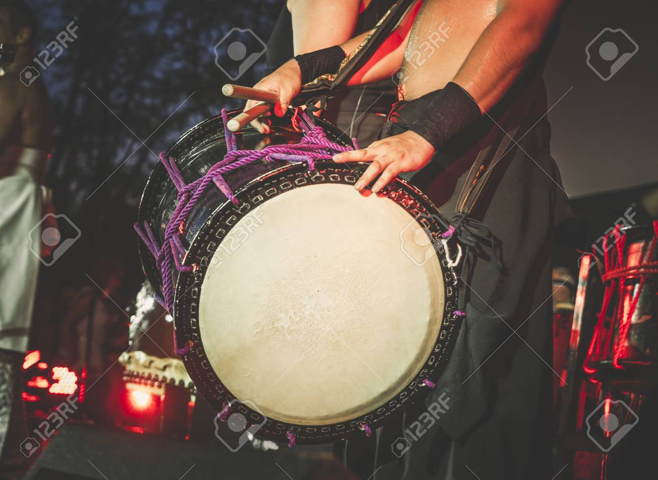 Double Headed Drum Taiko Drums O kedo On Scene Background Musical 1300x949