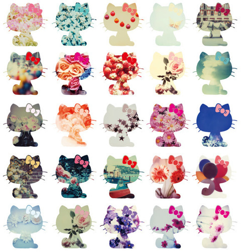 floral hello kitty pattern   image 206061 on Favimcom 500x502