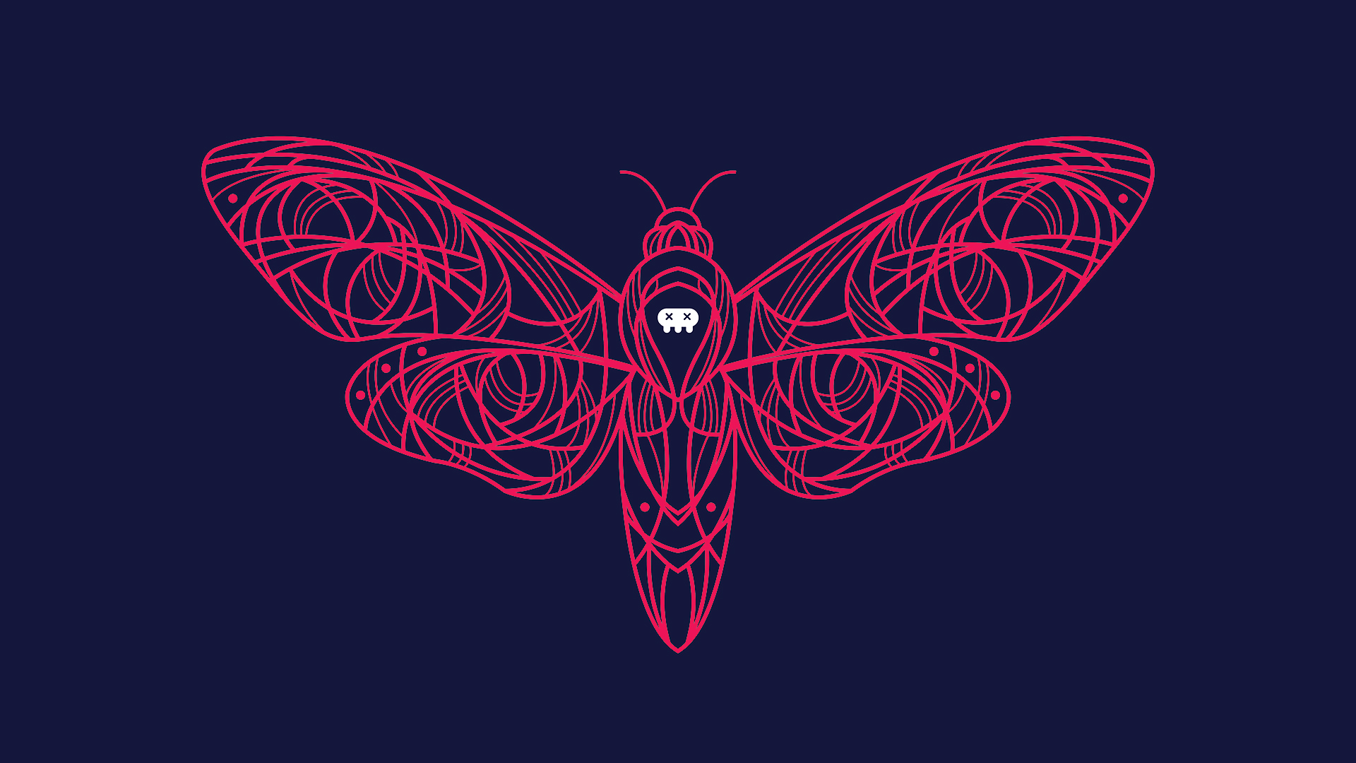 Free download Acherontia Death Moth symmetrical ...