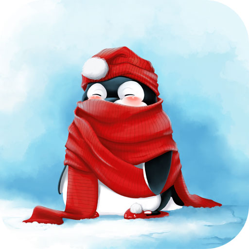 Snow Live Wallpaper: Christmas Penguin Wallpaper