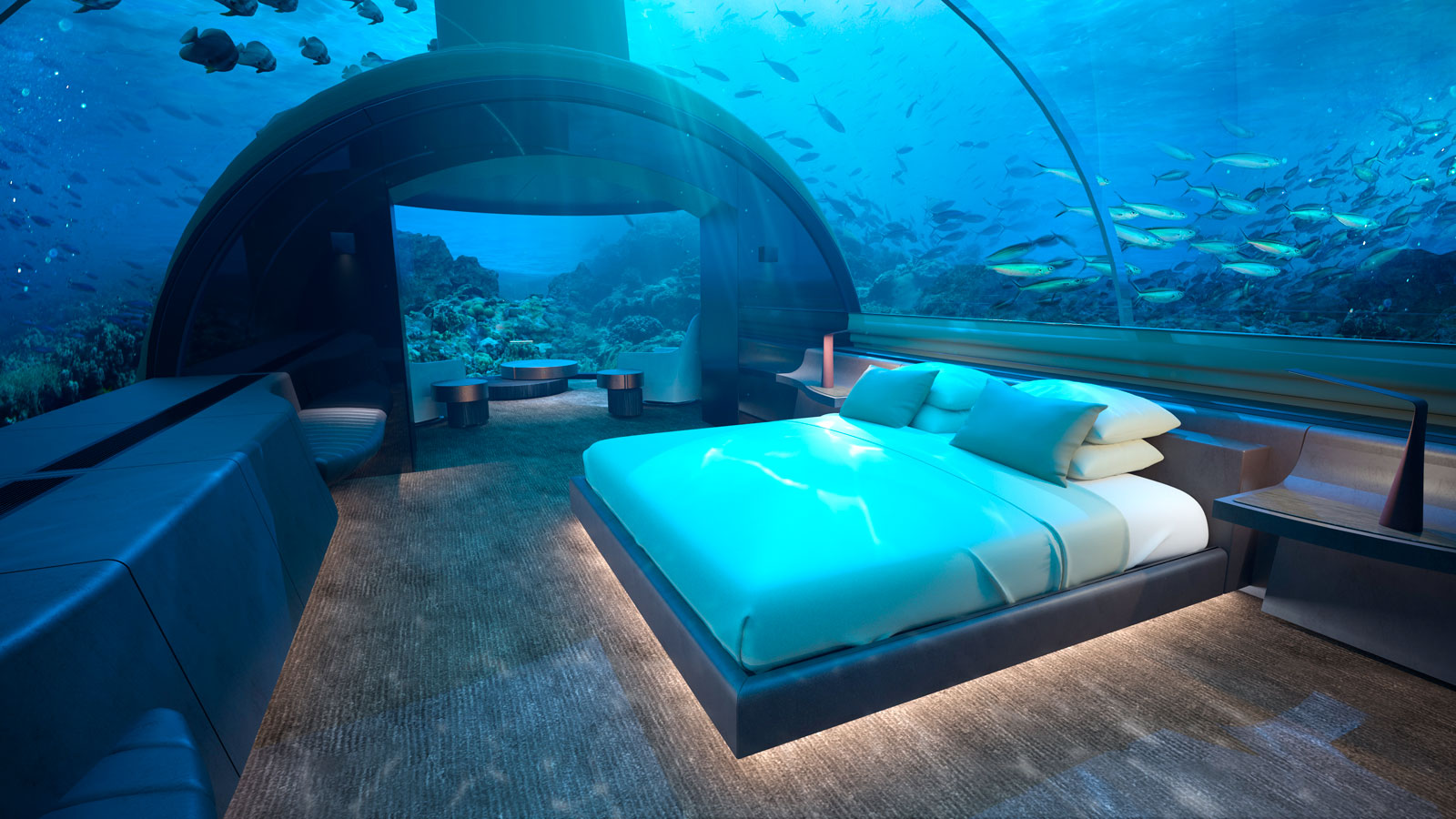 In Maldives worlds first underwater hotel residence will open 1600x900