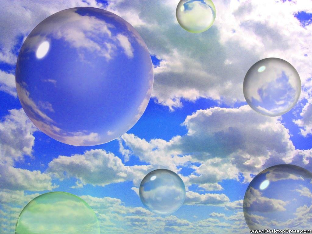 Desktop Wallpapers 3D Backgrounds Sky Bubbles www 1024x768
