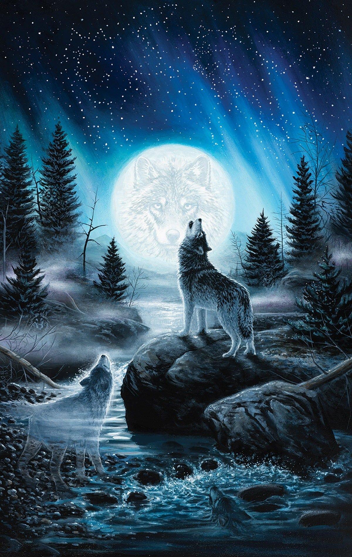 Howling Wolf Wallpaper iPhone 2019 3D iPhone Wallpaper 1200x1897