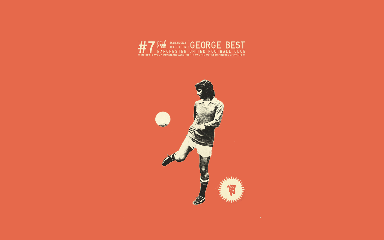 I wanted a George Best wallpaper but couldnt find any good ones 1280x800