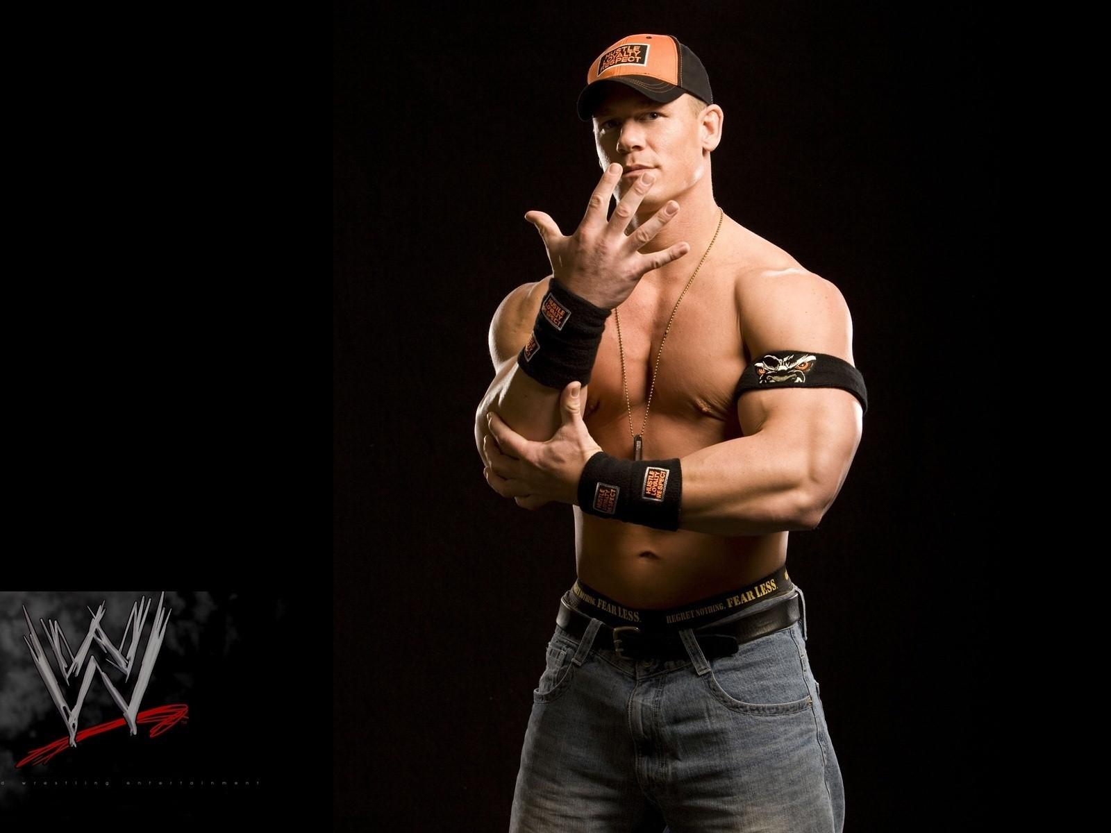 John Cena with WWE Logo HD Wallpapers 1600x1200