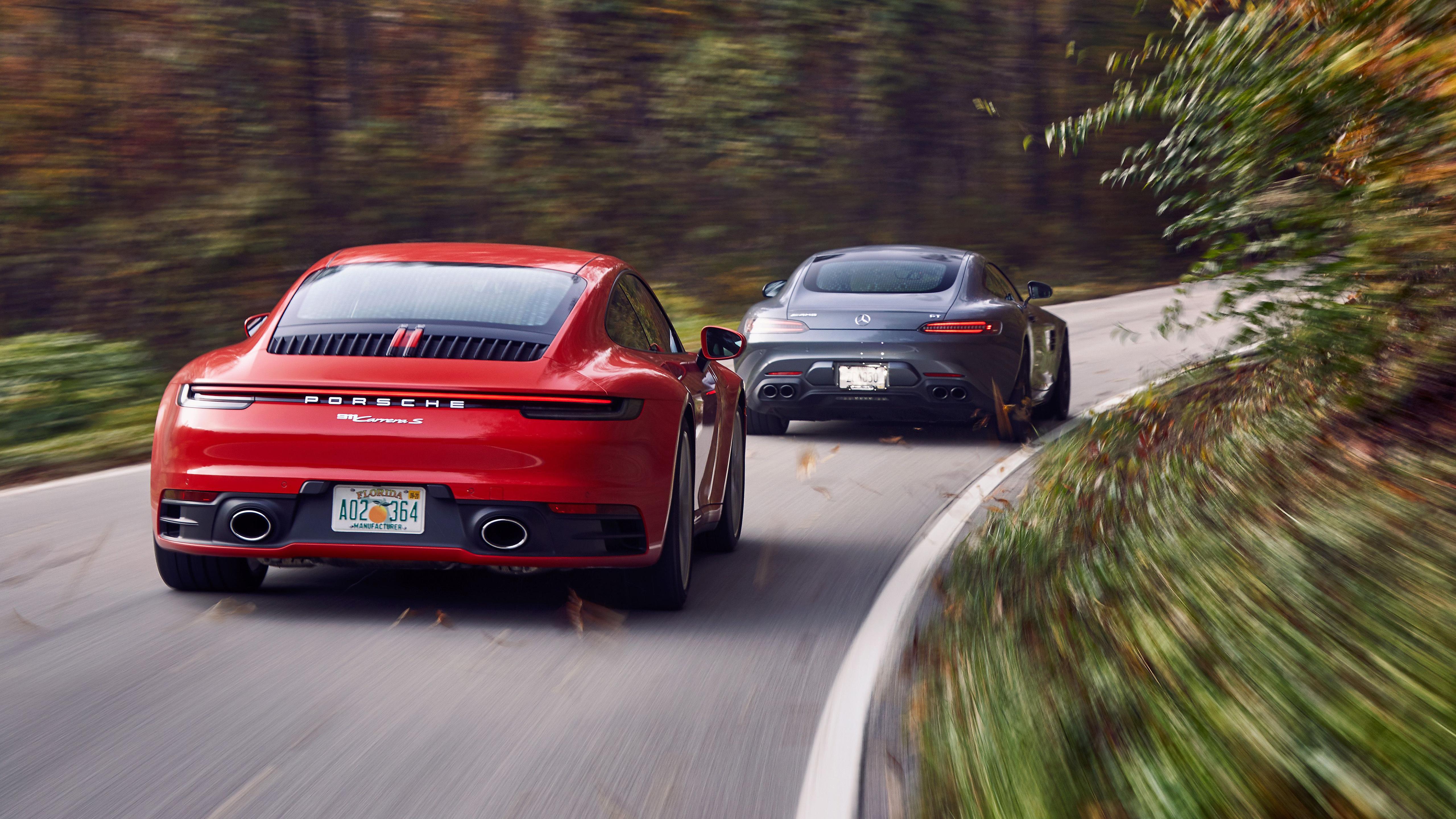 2020 Mercedes AMG GT and 2020 Porsche 911 Carrera S 5K 2 Wallpaper 5120x2880