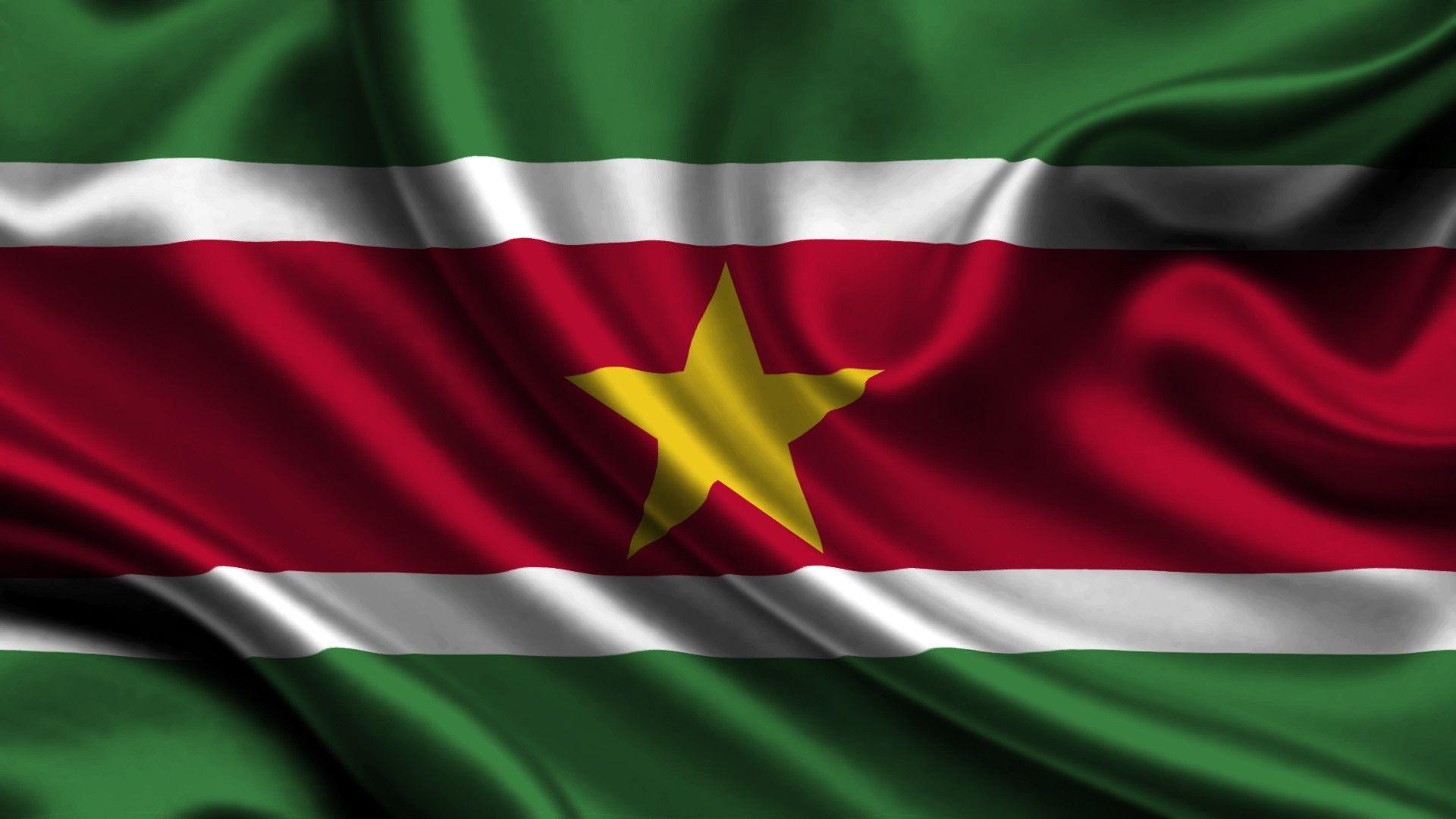 Flag of Suriname wallpaper Flags wallpaper Suriname flag Flag 1920x1080