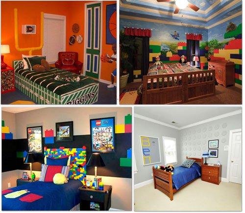 LEGO Bedroom Tip Junkie  LEGO Brick Mural use wallpaper 500x434