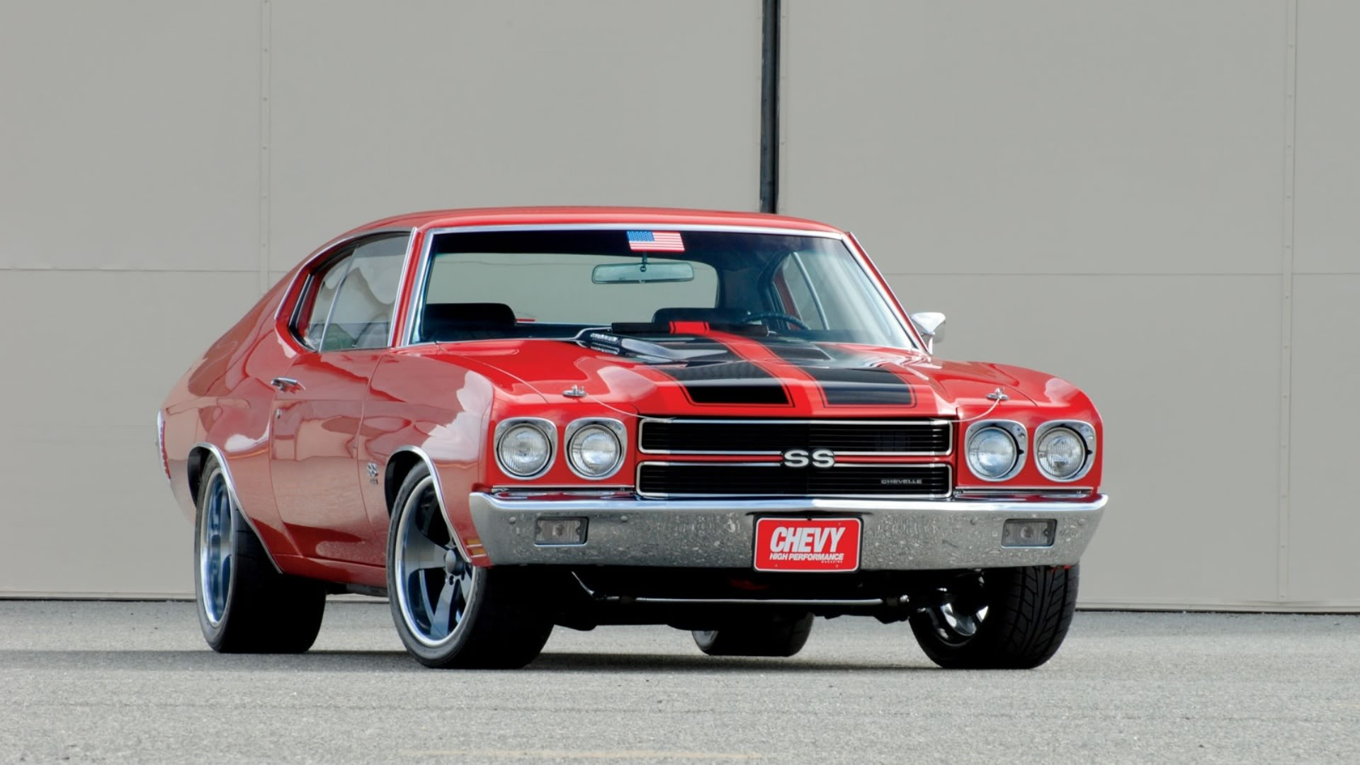 1970 Red Chevy Chevelle SS 454 wallpaper background 1920x1080
