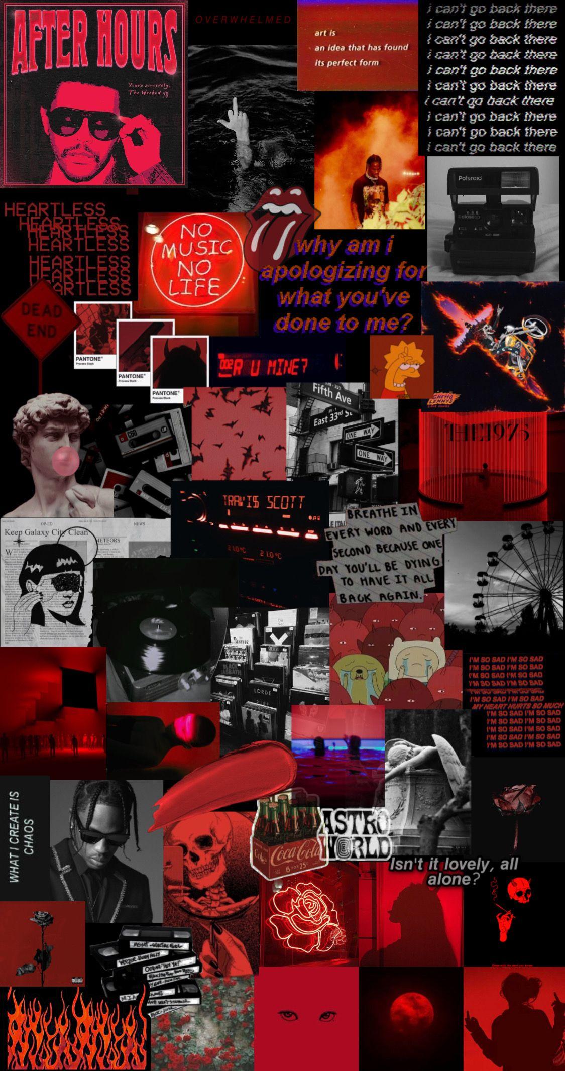 wallpaper Red and black wallpaper Black aesthetic wallpaper 1125x2132