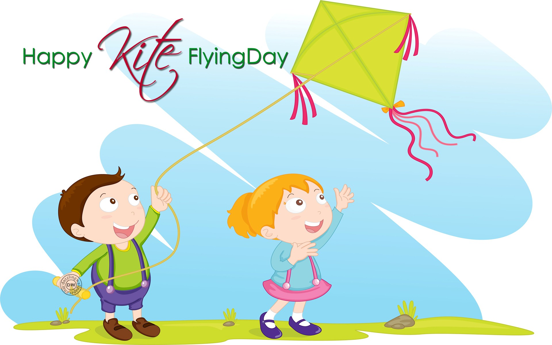 Happy Makar Sankranti Colorful Flying Kites Festival Photo HD 1920x1200