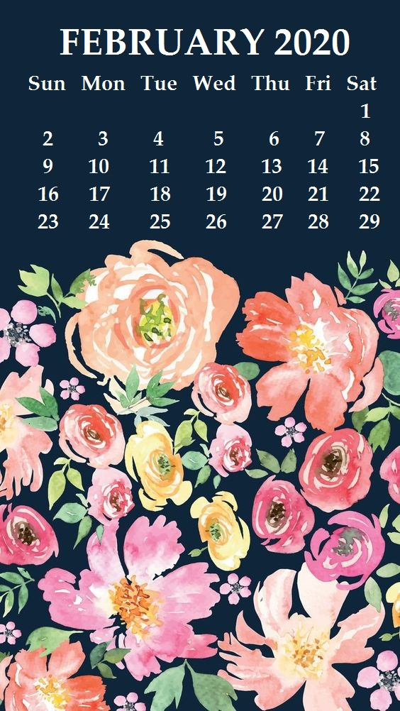 iPhone 2020 Calendar Wallpaper 564x1002