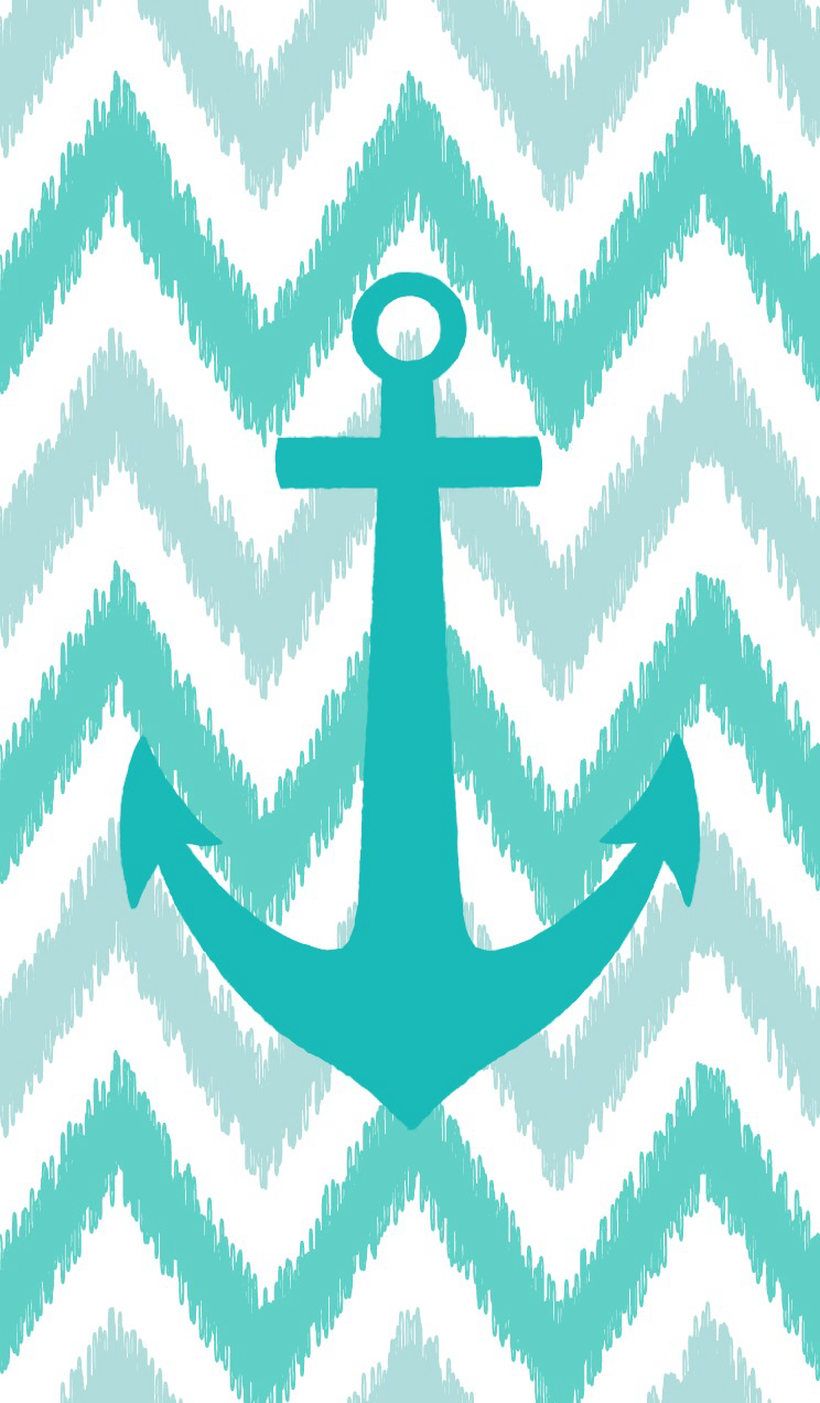 Teal anchor on teal chevron WALLPAPER JUNK Pinterest 744x1272