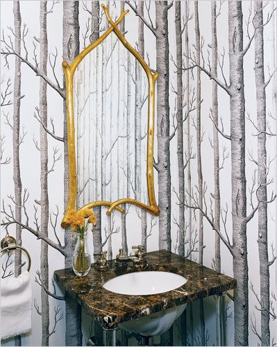 THE BIRCH COLE SON WALLPAPER mammoth house Pinterest 399x500