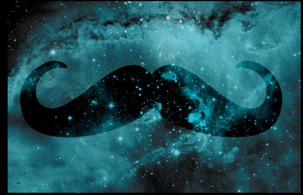 Galaxy Mustache Wallpa...