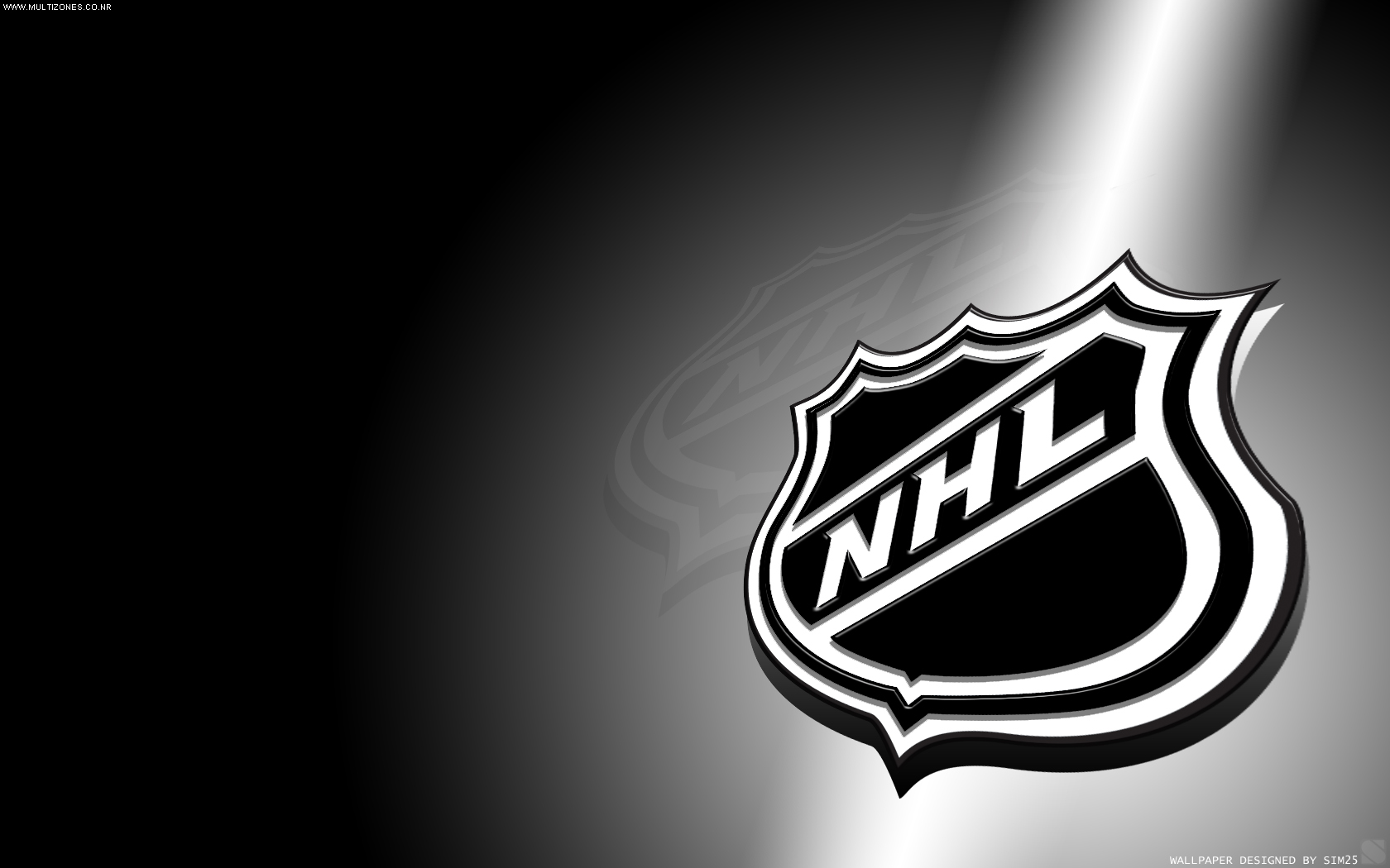 NHL Shine Logo   NHL Team Wallpaper 1680x1050