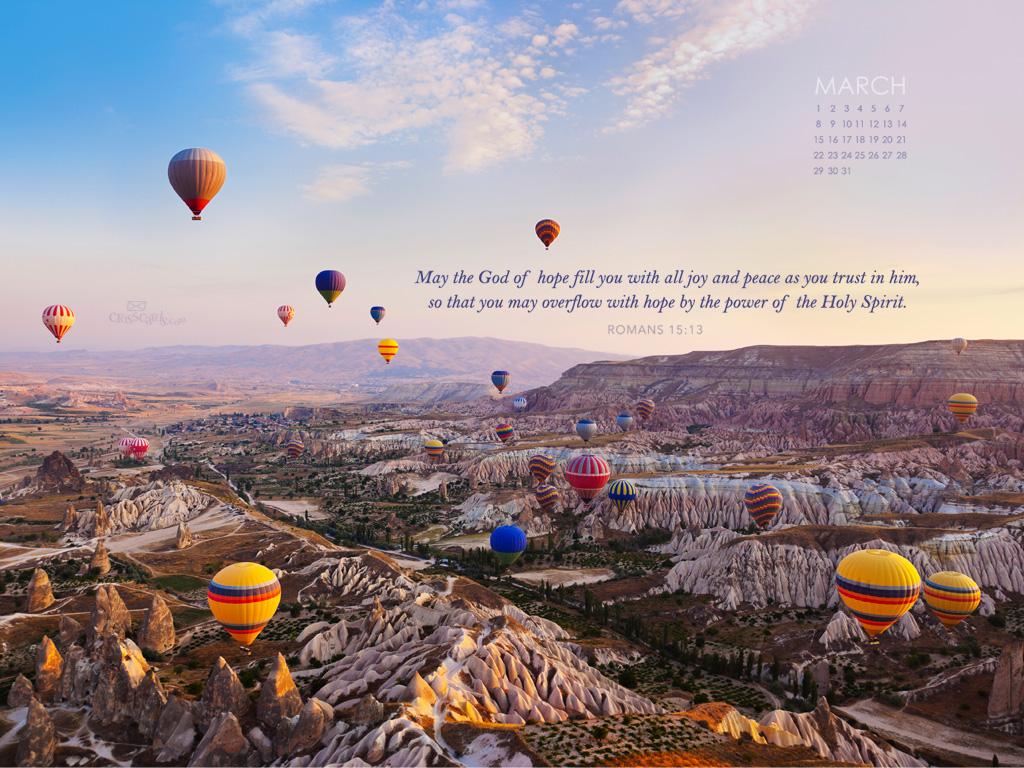 2015   Romans 1513 Desktop Calendar  Monthly Calendars Wallpaper 1024x768
