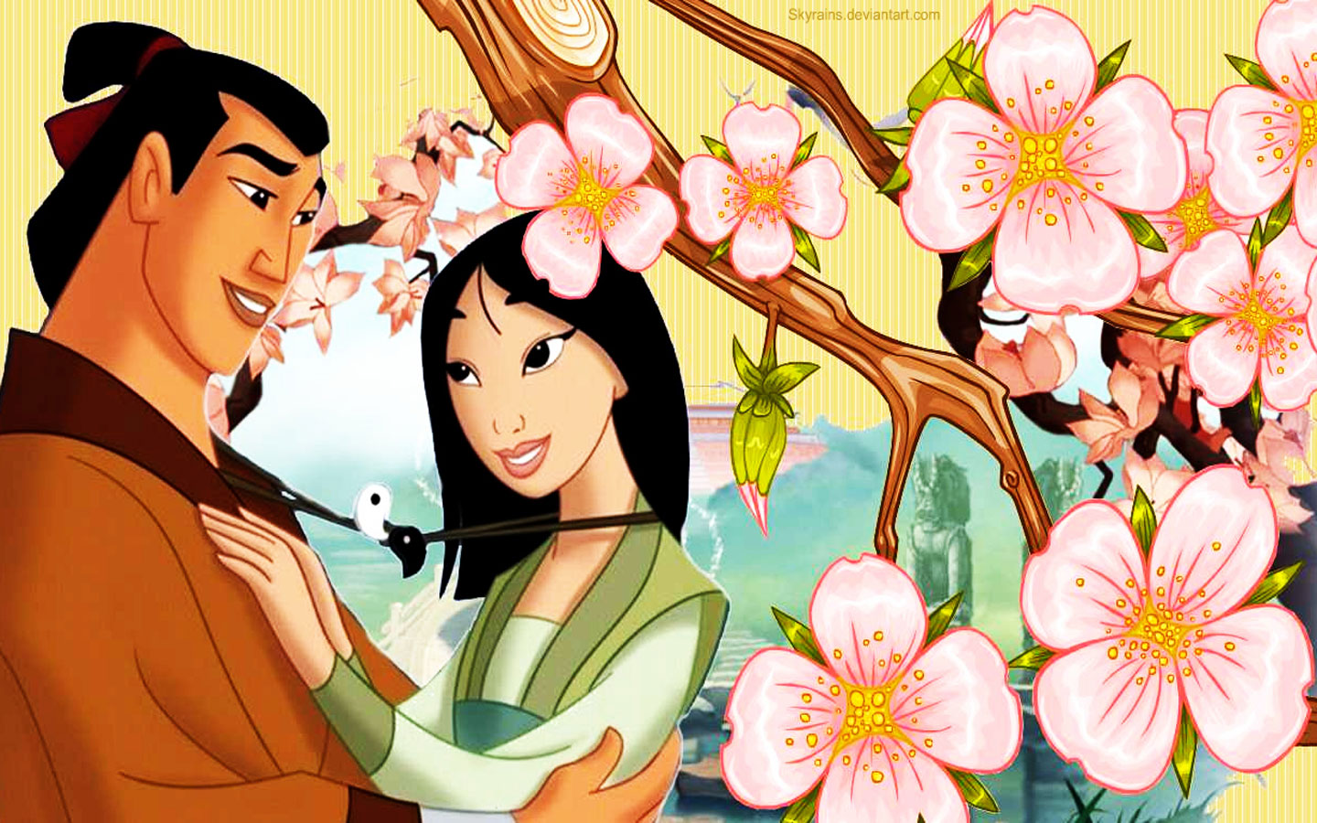 Mulan And Shang   muIans Wallpaper 39399910 1440x900