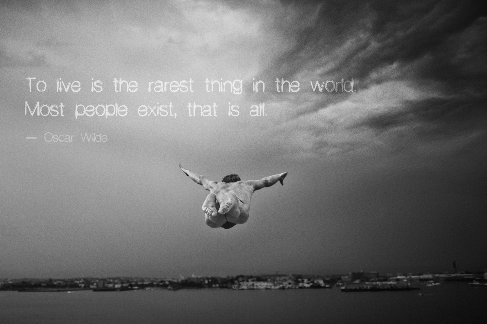 To live is the rarest thing in the world   Oscar Wilde [1920 x 1920x1280