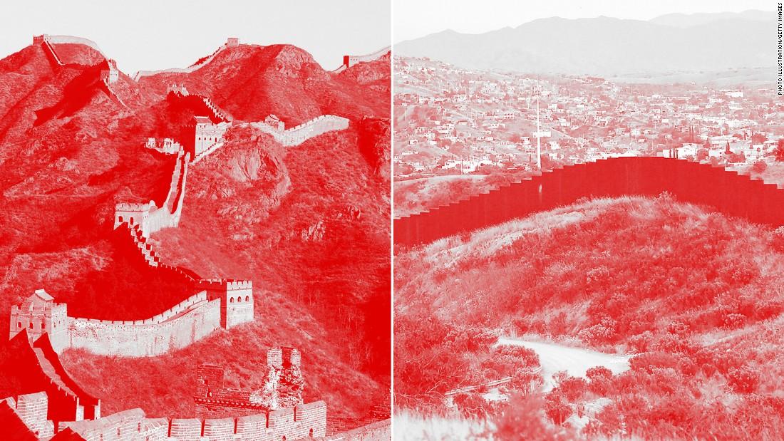 Trumps wall vs the Great Wall of China   CNNPolitics 1100x619