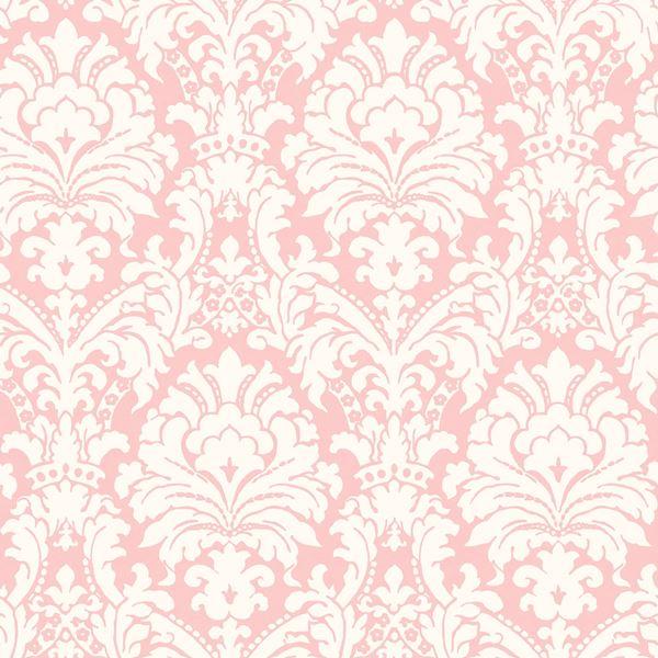 GIR36069 Ginger Pink Brocade Damask Wallpaper Boulevard 600x600