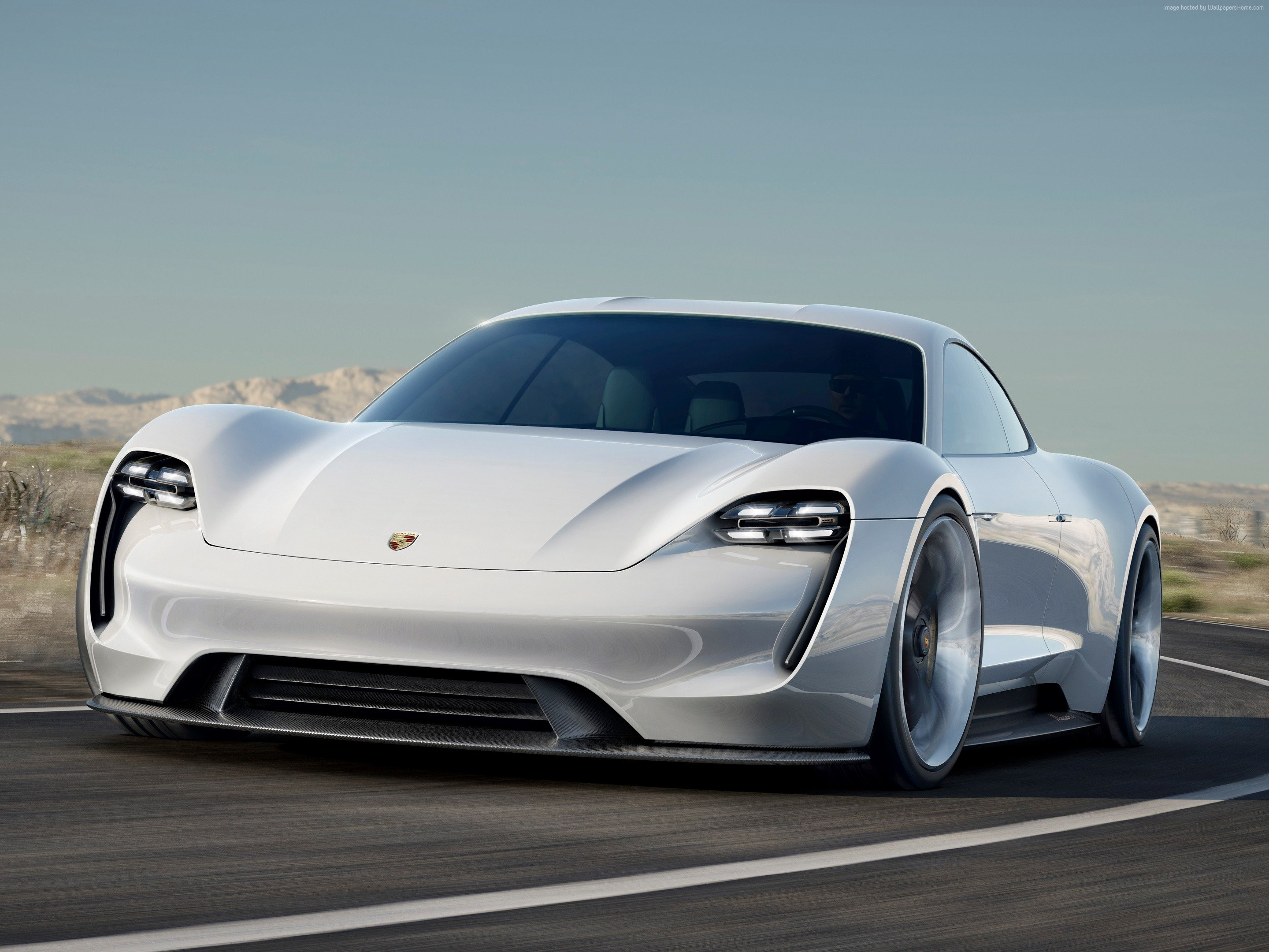 100816 white Porsche Taycan 800v supercar Electric Cars 2880x2160