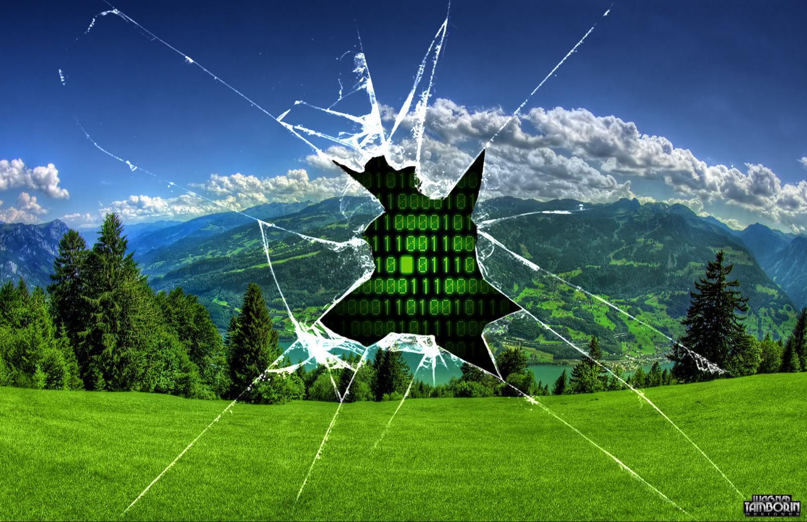 broken screen background broken glass wallpaper 1600x1035