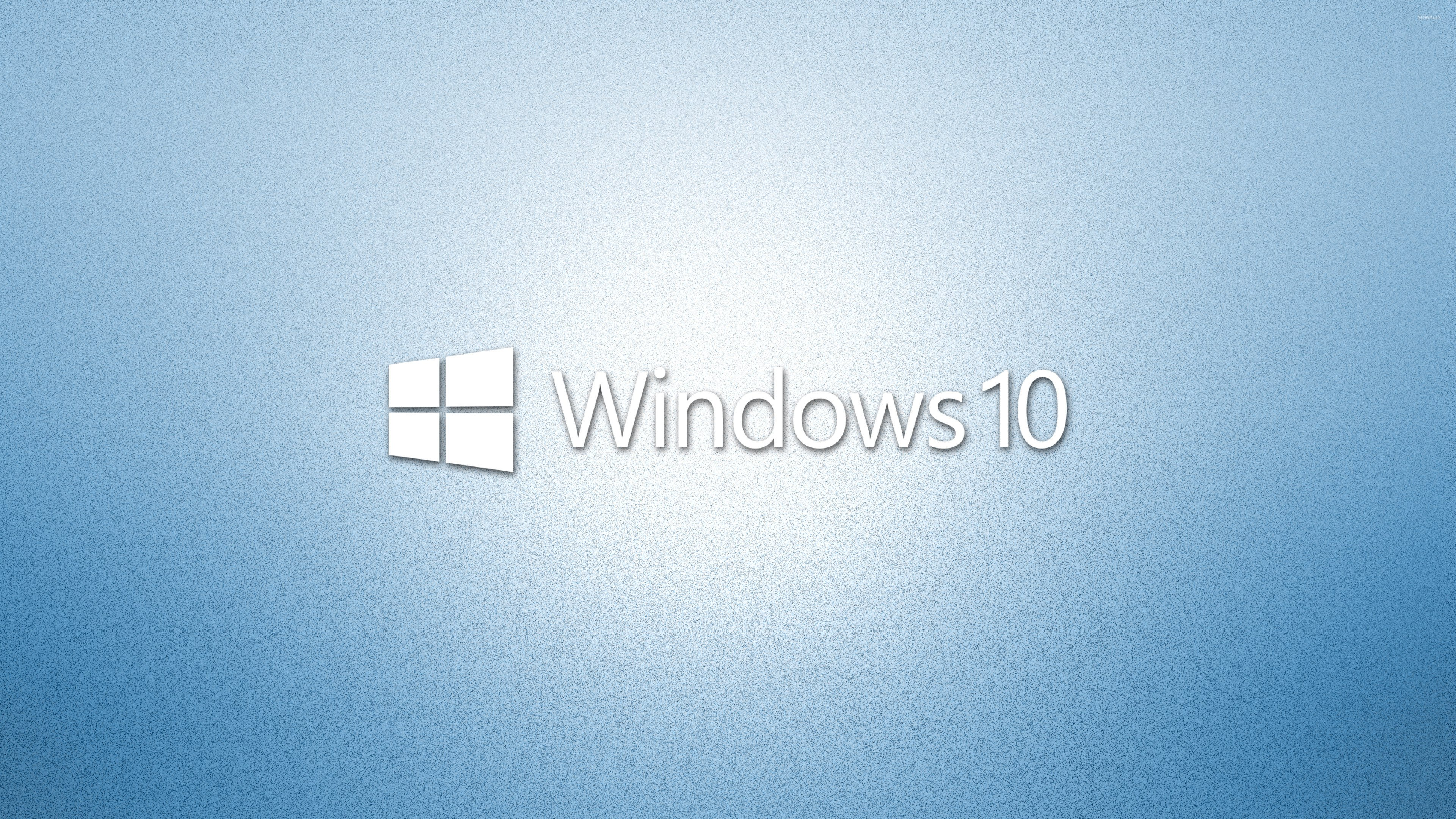 Free Download Windows 10 White Text Logo On Light Blue Wallpaper
