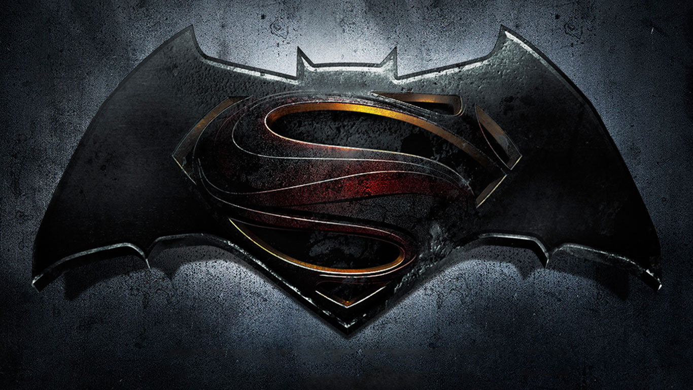 Batman VS Superman Logo Movies Wallpaper HD 12325 Wallpaper High 1366x768