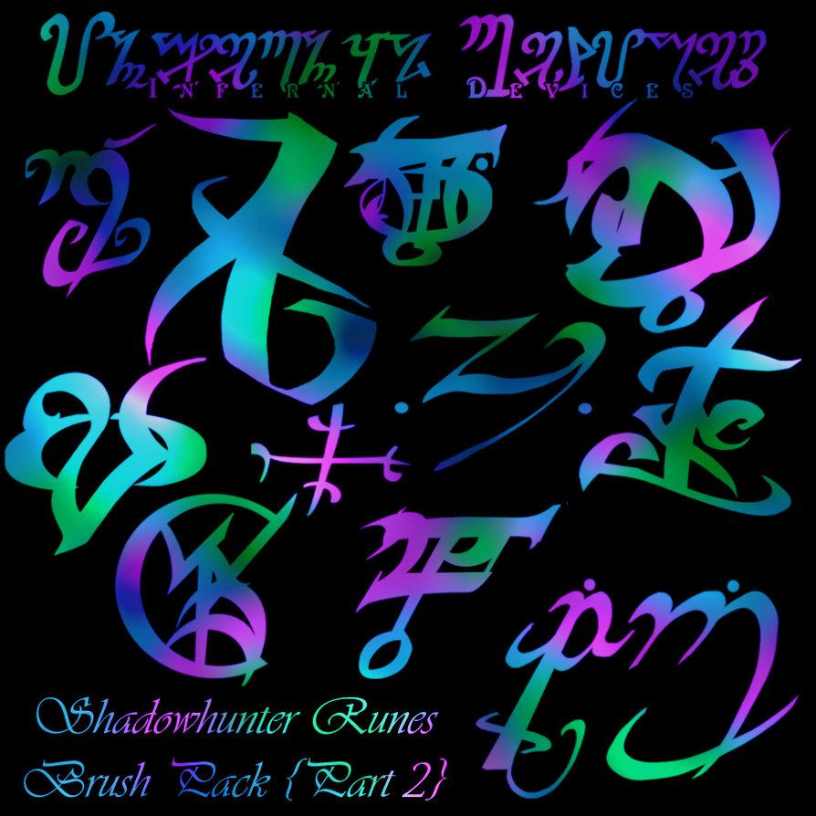 Shadowhunter wallpaper wallpapersafari shadowhunter runes brushes ii by reachforthestarfish on deviantart biocorpaavc