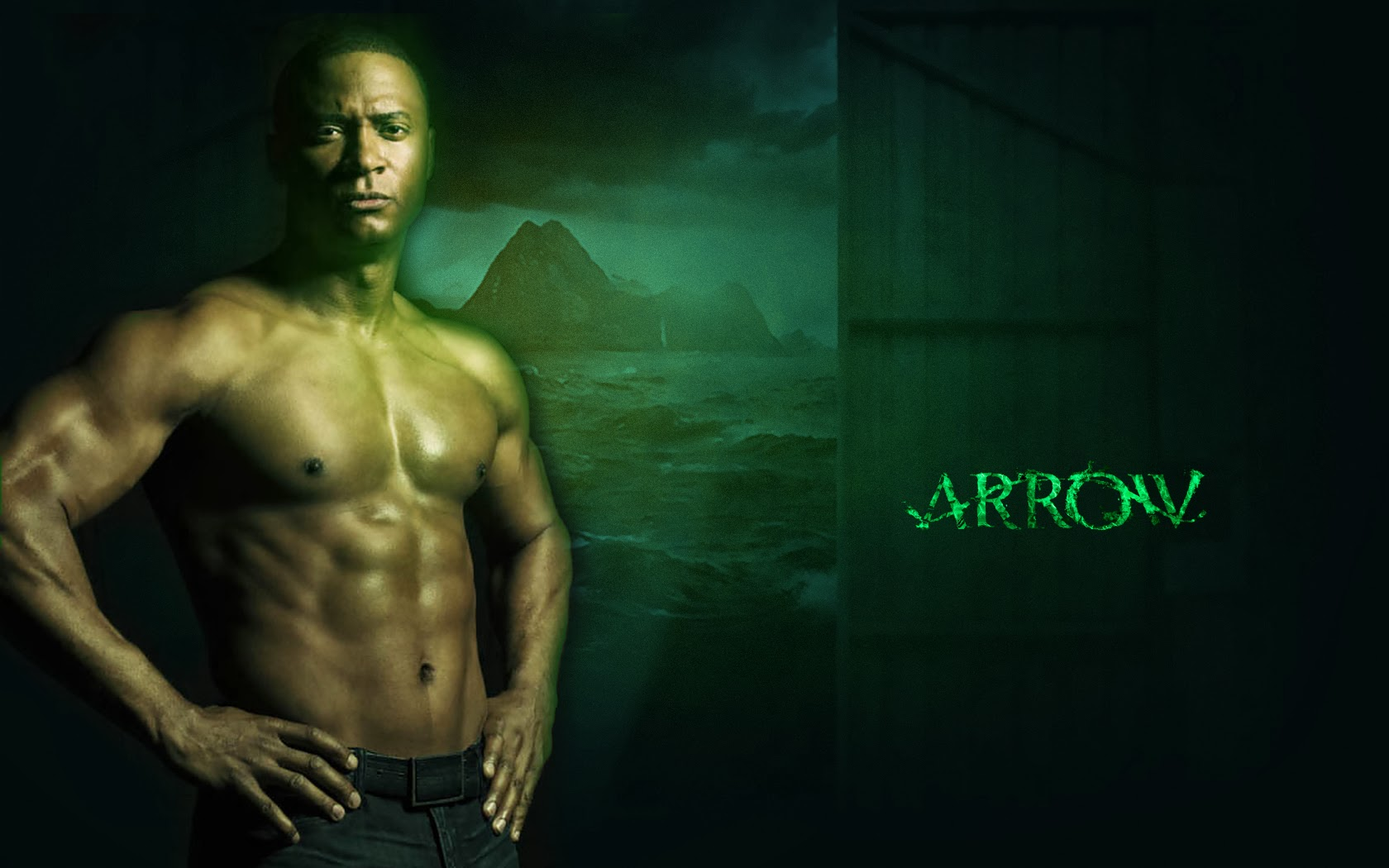 David Ramsey Arrow Tv Series Wallpaper SharedWallpapers 1680x1050