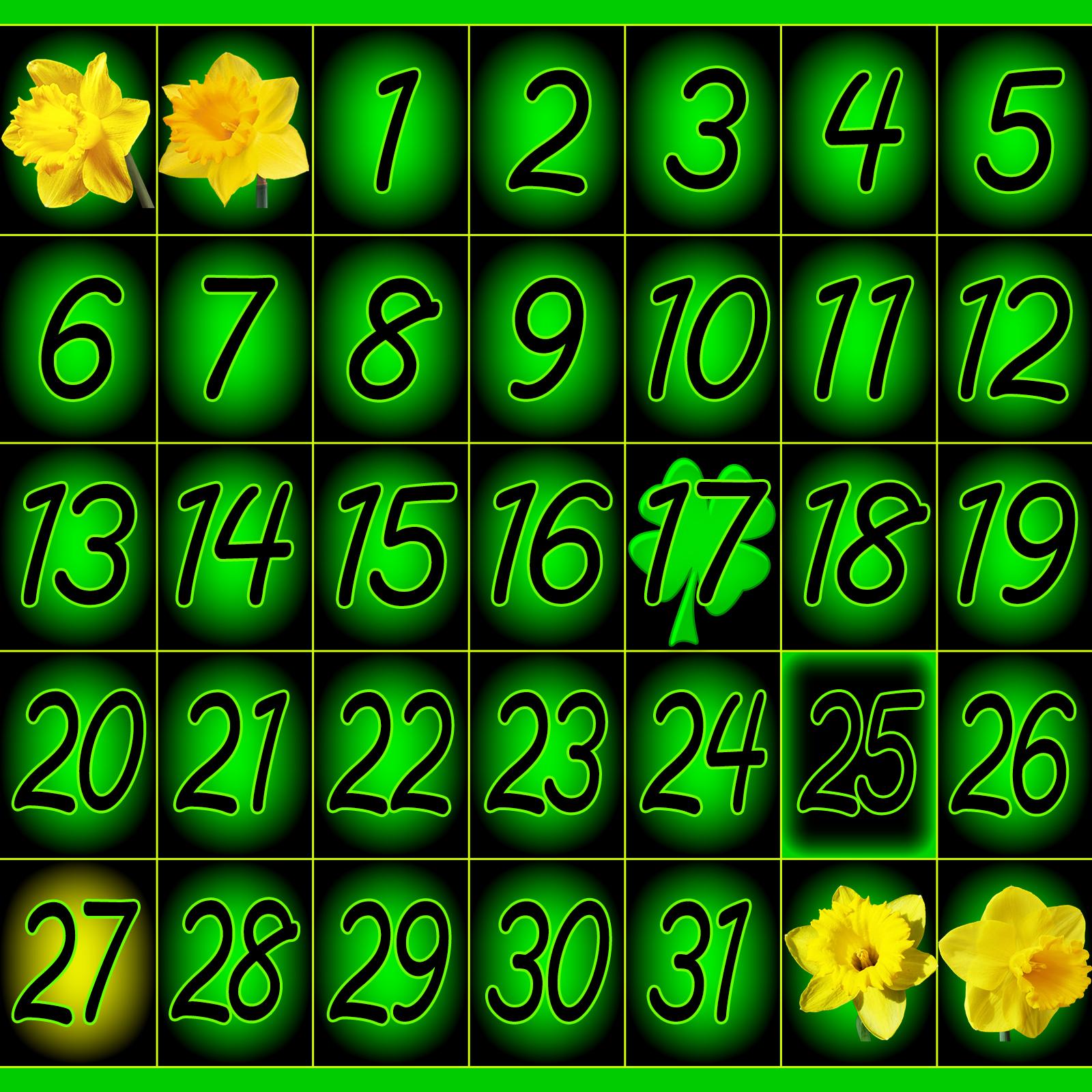 March Calendar 2016 1600 x 1600 px 1600x1600