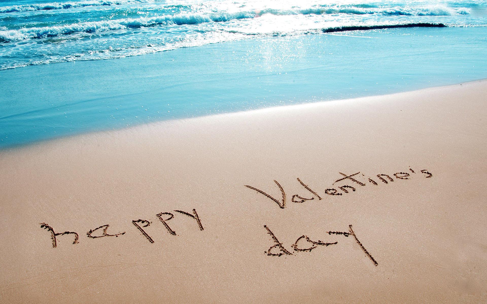Happy Valentines Day Beach Image 1920x1200