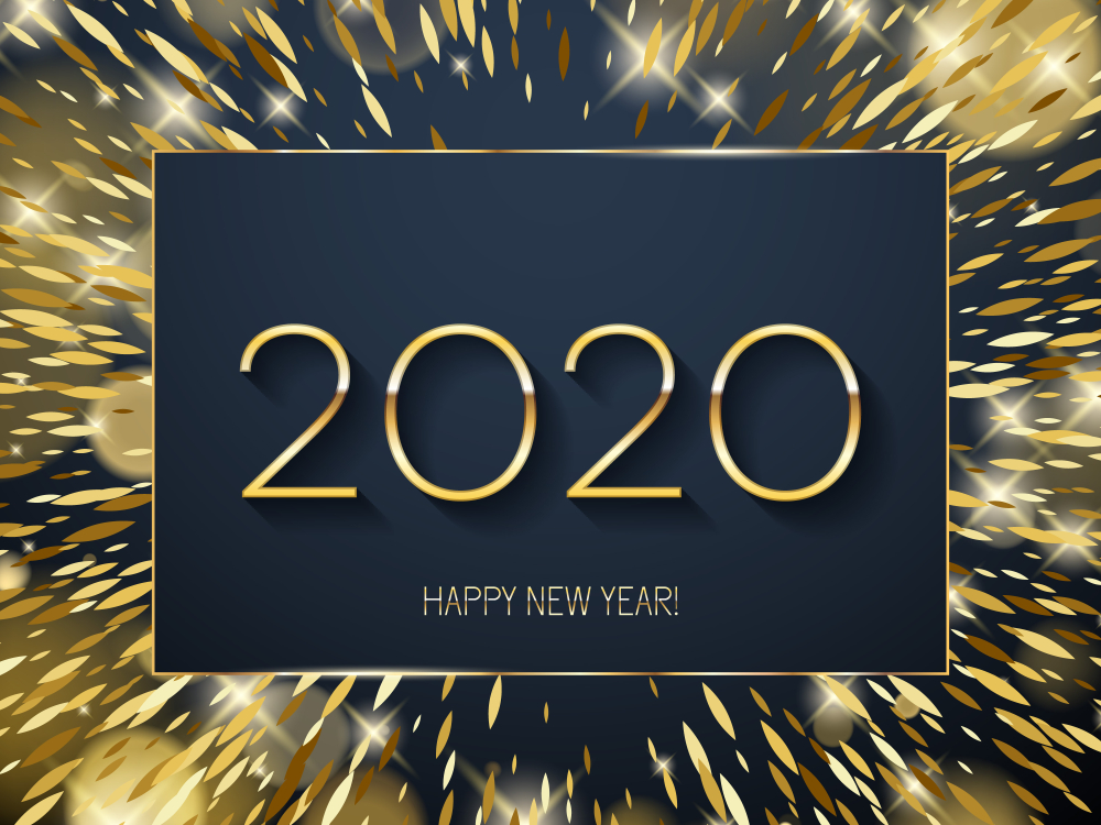Happy New Year 2020 Wallpapers 1000x750
