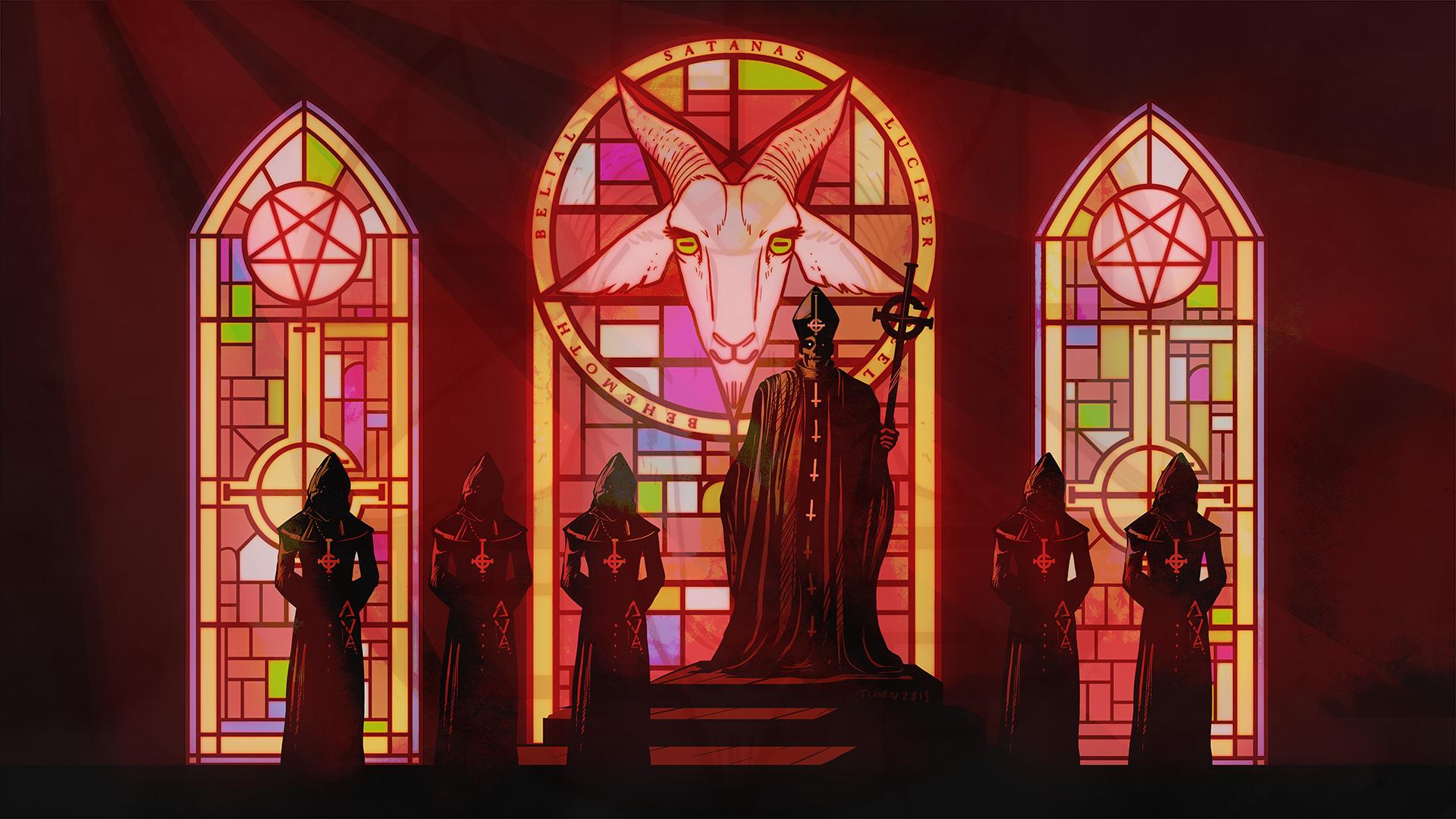 Ghost B C heavy metal black death dark satanic occult satan wallpaper 1920x1080