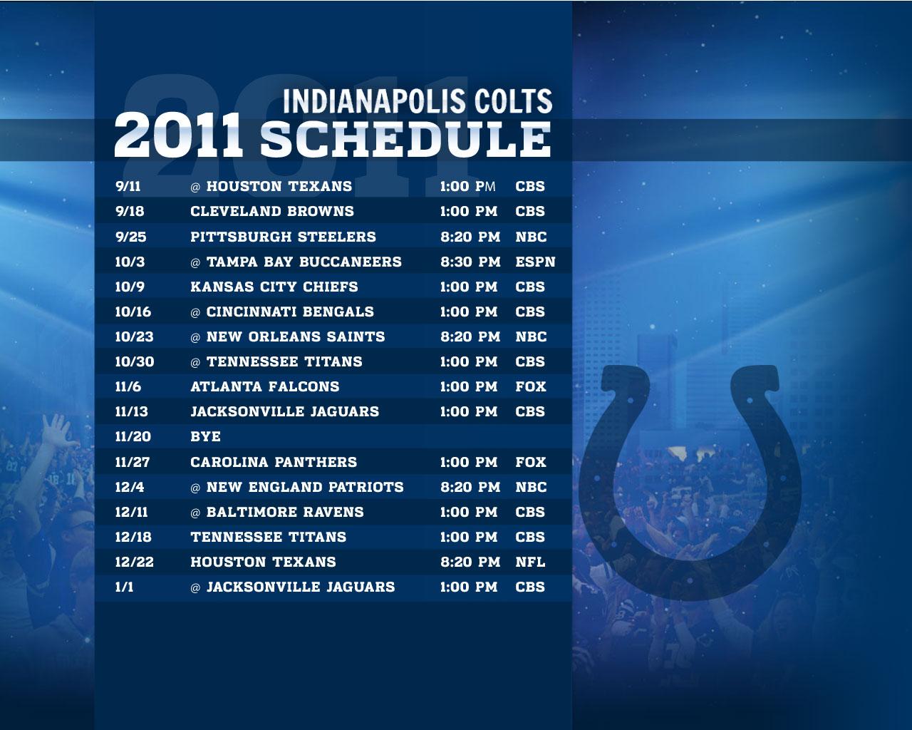 2011 Schedule 1280x1024